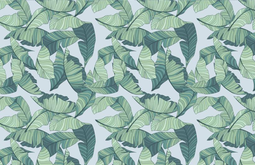 blue-green-tropical-leaf-design-plain-wall-murals