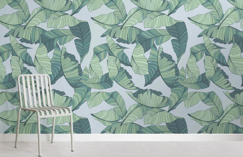 blue-green-tropical-leaf-design-room-wall-murals