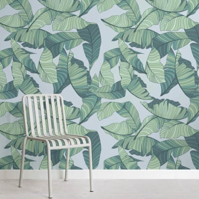 blue-green-tropical-leaf-design-square-wall-murals