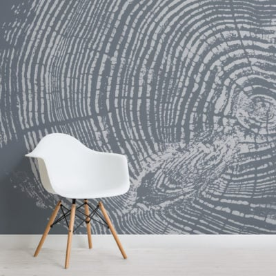 blue grey wood grain print wallpaper mural