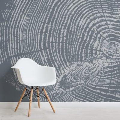 blue grey wood grain print wallpaper mural