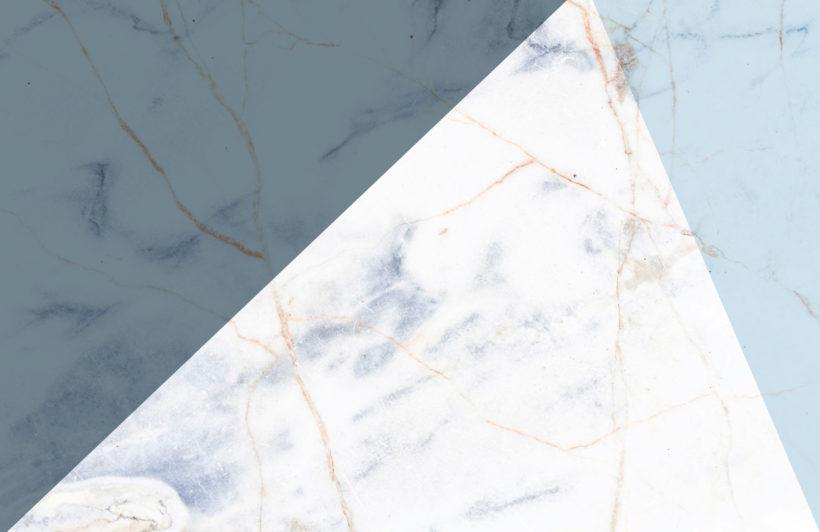 blue marble effect geometric wallpaper mural