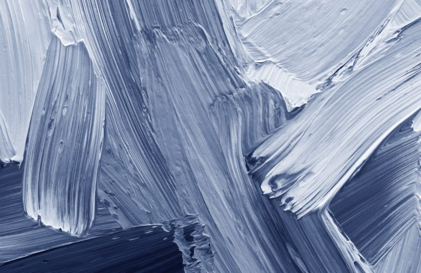blue mixed paint brush effect wallpaper mural