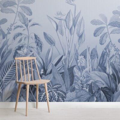 blue-ombre-tropical-jungle-landscape-wallpaper-mural