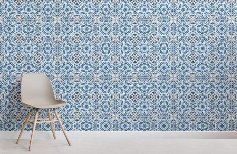 blue-orange-portuguese-tile-textures-room-wall-murals