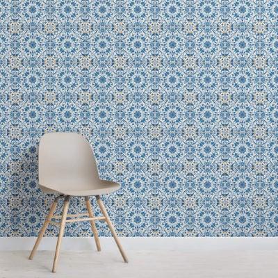 blue-orange-portuguese-tile-textures-square-2-wall-murals