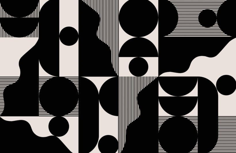 bold-black-and-beige-abstract-geometric-wallpaper-mural