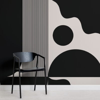bold-black-and-beige-abstract-shapes-wallpaper-mural