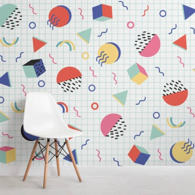 colourful-modern-shapes-memphis-square-wall-mural