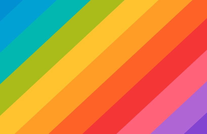 bold rainbow stripes wallpaper mural