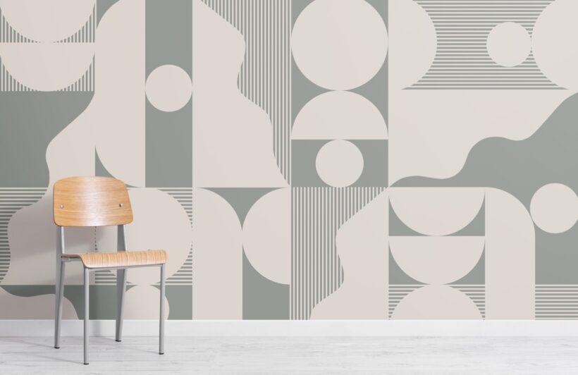 bold-sage-green-abstract-geometric-wallpaper-mural