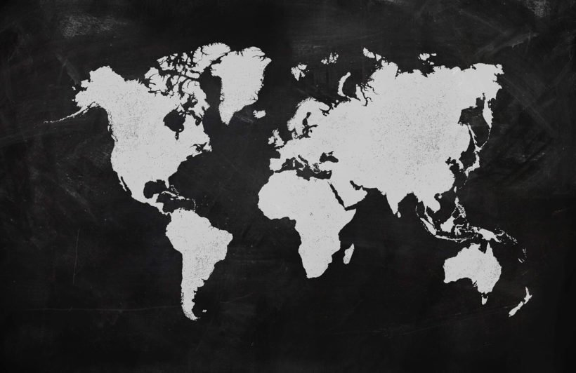 Chalk Board World Map