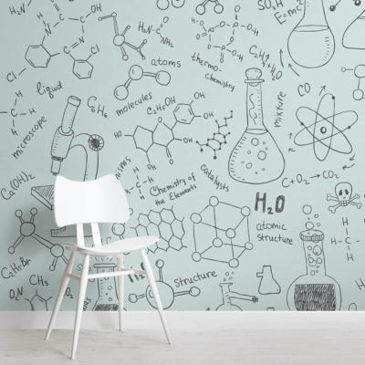 chemistry-doodle-childrens-square-wall-murals