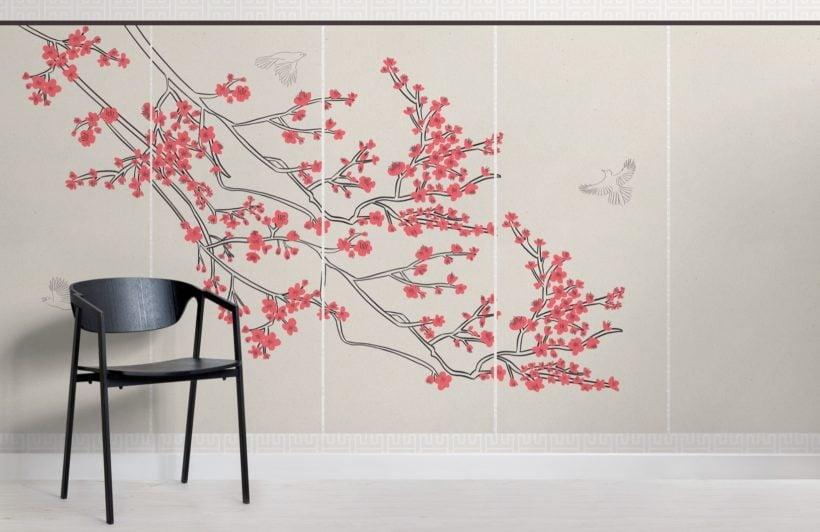 cherry blossom japanese wallpaper mural
