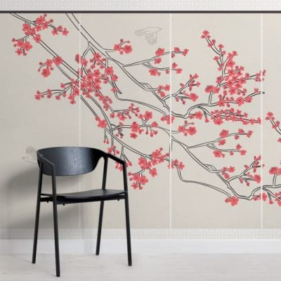 cherry blossom japanese wallpaper mural