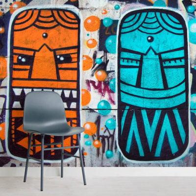 colourful-aztec-masks-graffiti-graffiti-square-2-wall-murals