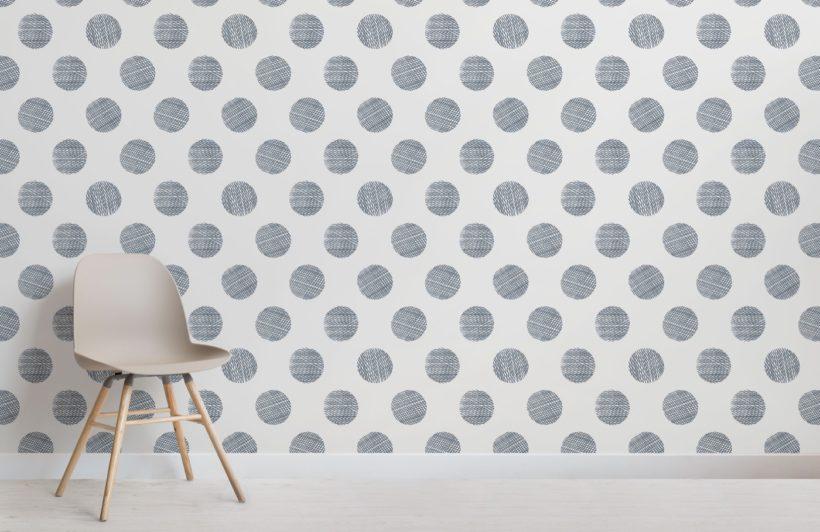 crosshatch dot pattern wallpaper mural