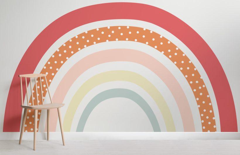 cute-colourful-rainbow-nursery-wallpaper-mural