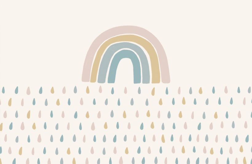 cute-pastel-rainbow-raindrop-wallpaper-mural