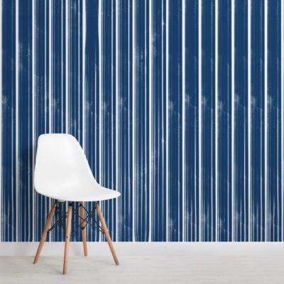 dark blue textured stripes wallpaper mural