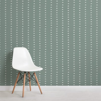 dark green minimal triangle repeat pattern wallpaper