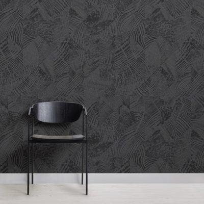 dark grey & black wood grain pattern wallpaper mural