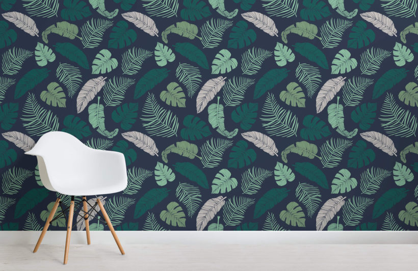 dark-tropical-leaves-design-room-wall-murals