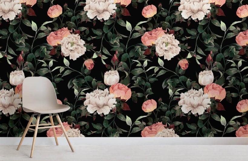 dark-vintage-floral-room-wall-mural