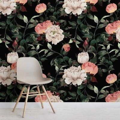 dark-vintage-floral-square-wall-mural