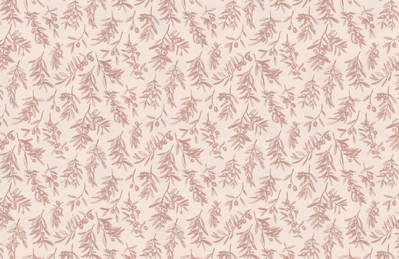 dusty pink ancient greek olive branch pattern wallpaper mural