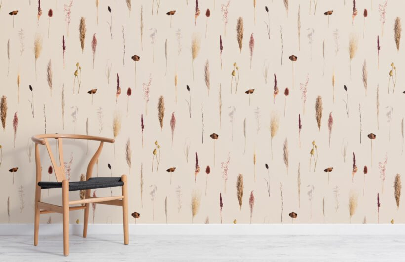 earthy-dried-flowers-botanical-repeat-pattern-wallpaper