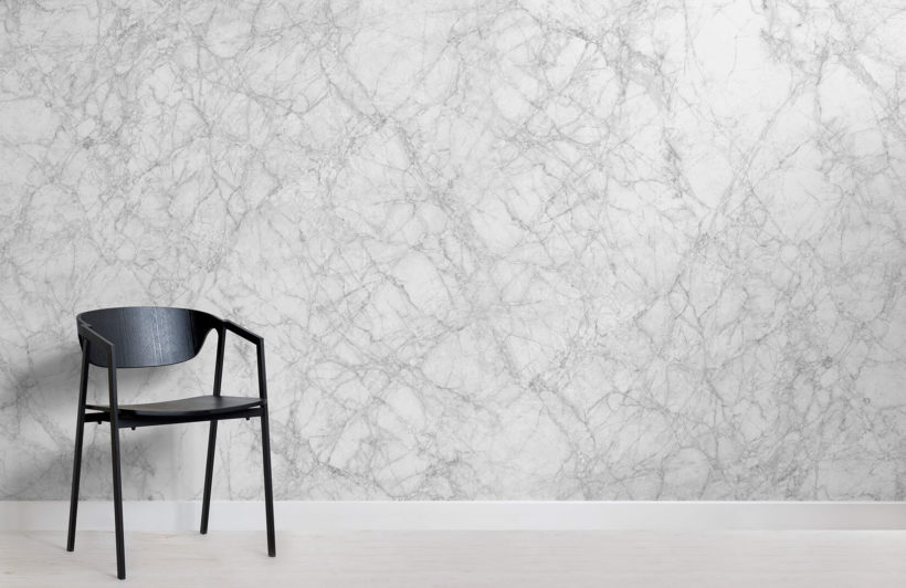 Classic White Marble Room Wall Mural