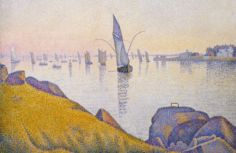 evening-calm-by-paul-signac-art-plain-wall-murals