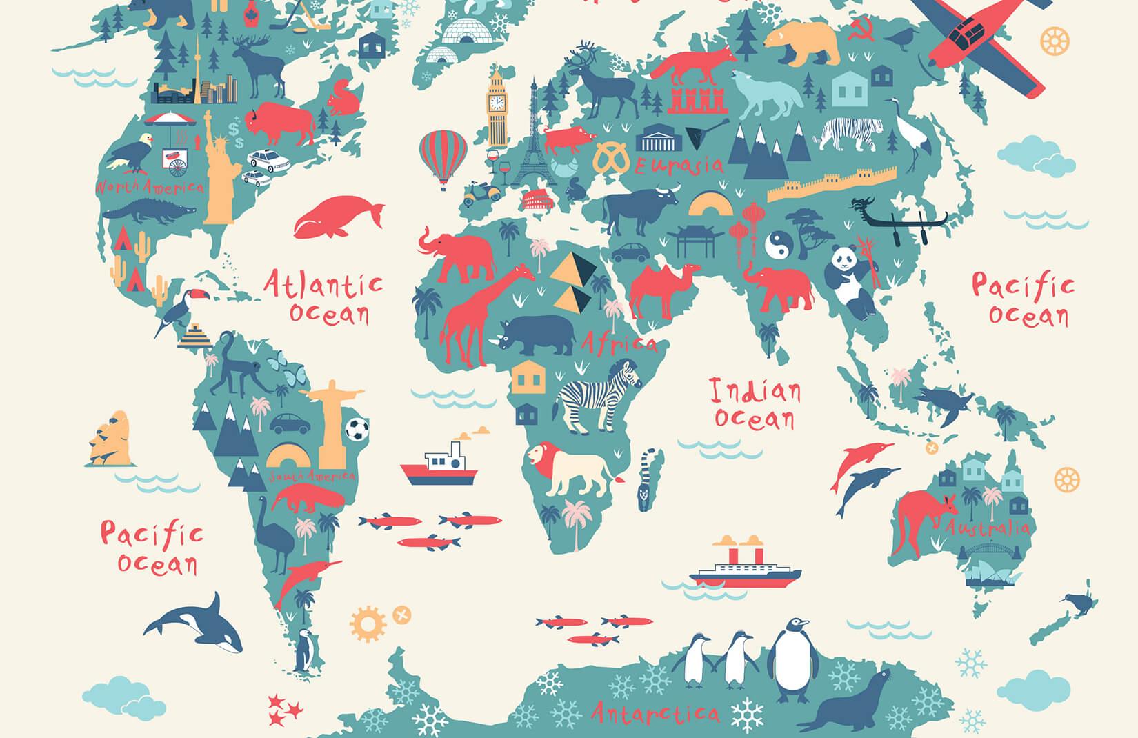 Cartina 1500.Carta Da Parati Con Mappa Delle Esplorazioni Per Bambini Hovia It