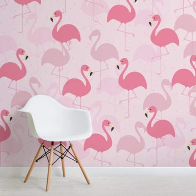 flamingo fancy-kids-square-wall mural-kj