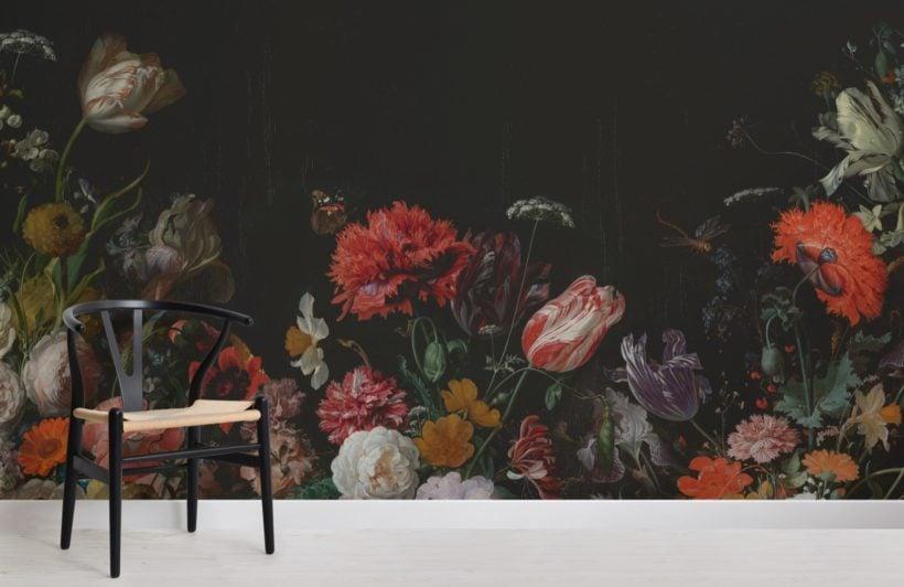 flower arrangement artist painting wallpaper mural