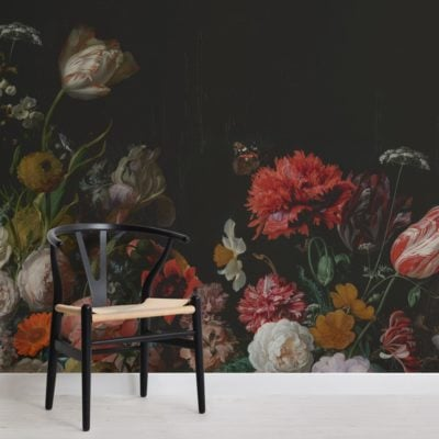 flower arrangement artist painting wallpaper mural