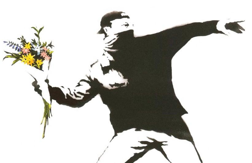 flowers-banksy-graffiti-plain-wall-murals