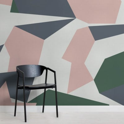 forain-abstract camo-square-wall mural-kj