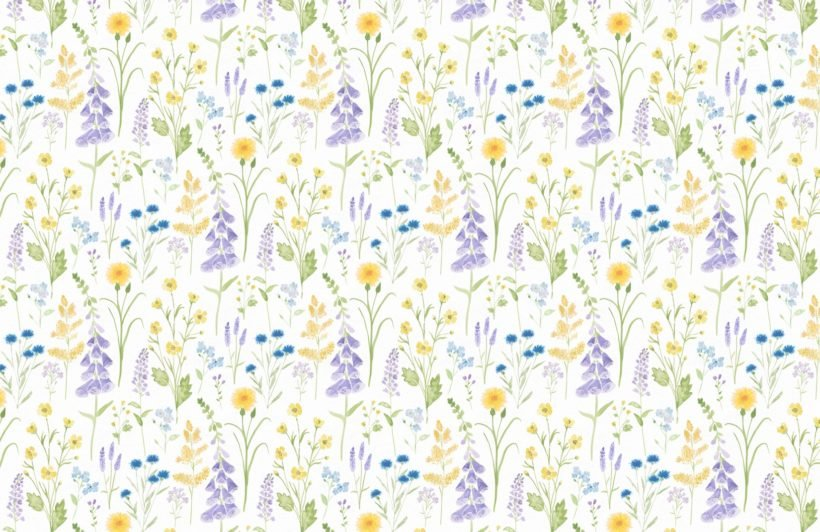 foxglove and forget me not flower garden wallpaper mural