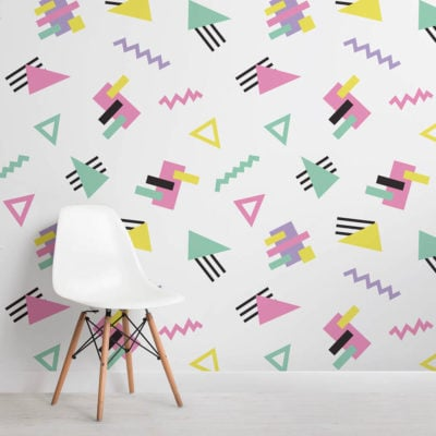 geometric-90s-square-wall-mural
