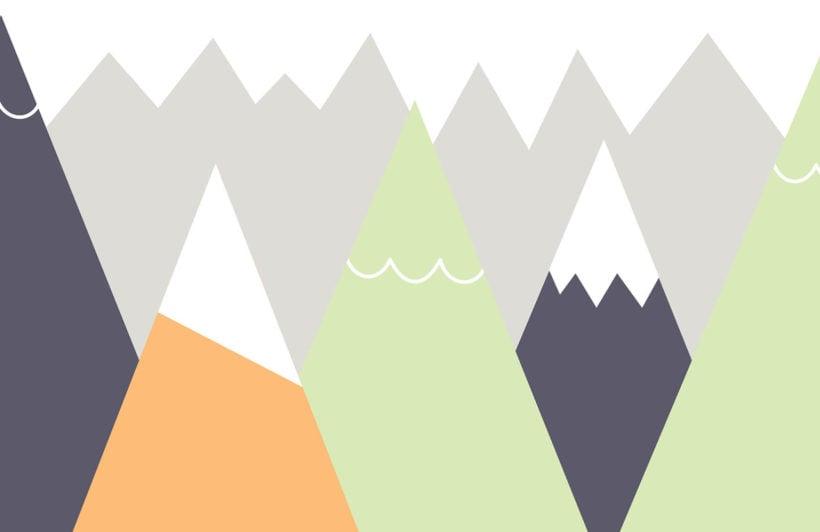 kids-orange-and-lime-mountains-nursery-plain-wall-mural