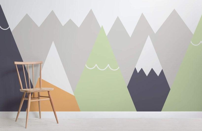 kids-orange-and-lime-mountains-nursery-room-wall-mural