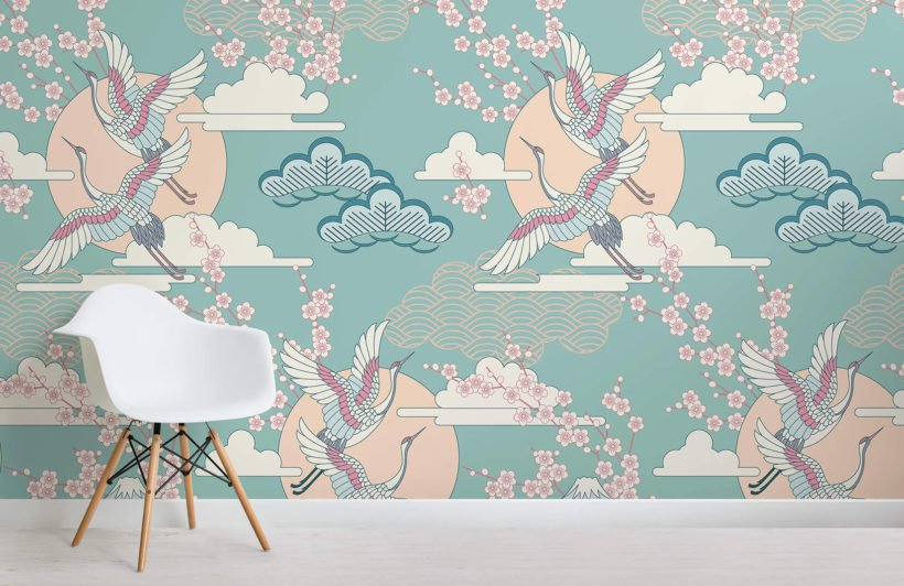 green-and-pink-oriental-sky-collection-room-wall-mural