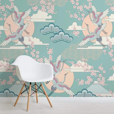 green-and-pink-oriental-sky-collection-square-wall-mural