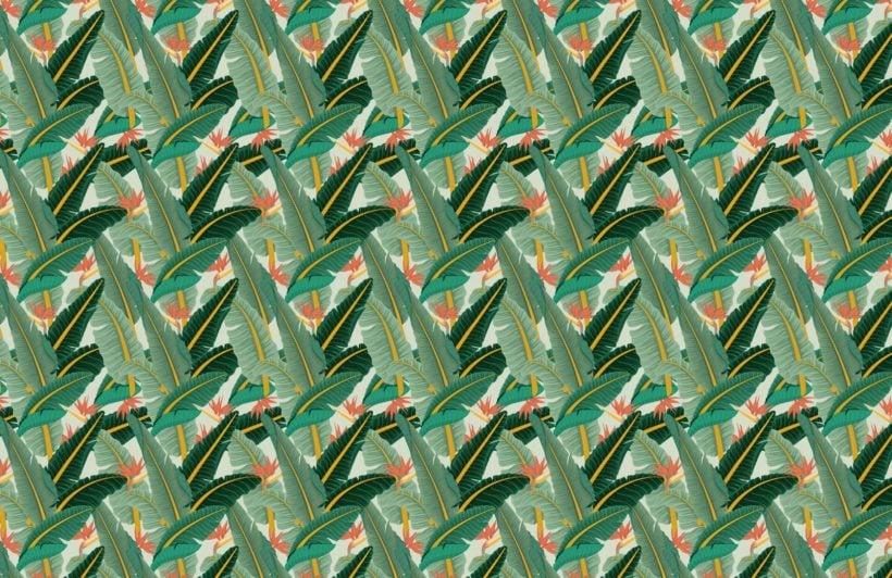green-banana-leaf-pattern-tropical-wallpaper-mural