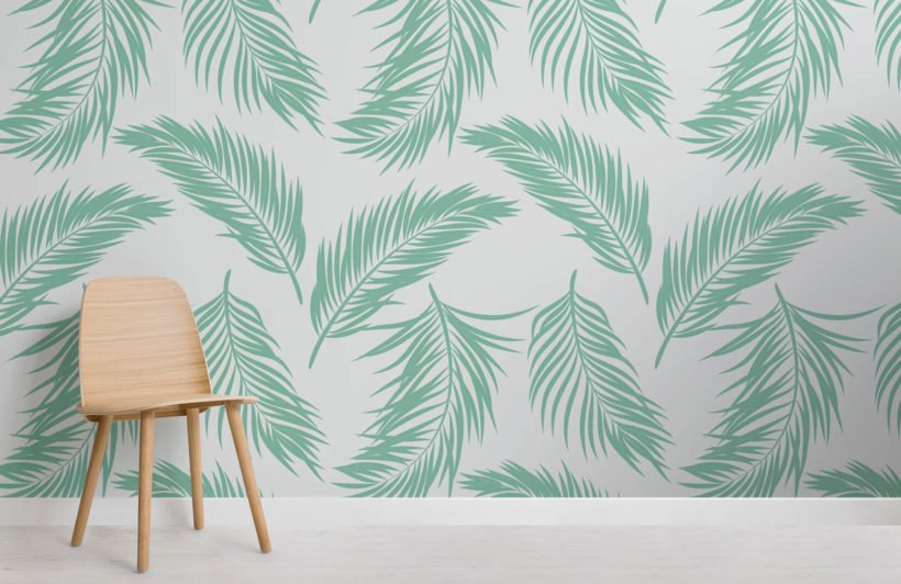 green-fern-leaf-design-room-wall-murals
