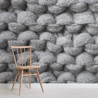 grey-chunky-knit-wall-mural-textures-square-wall-murals