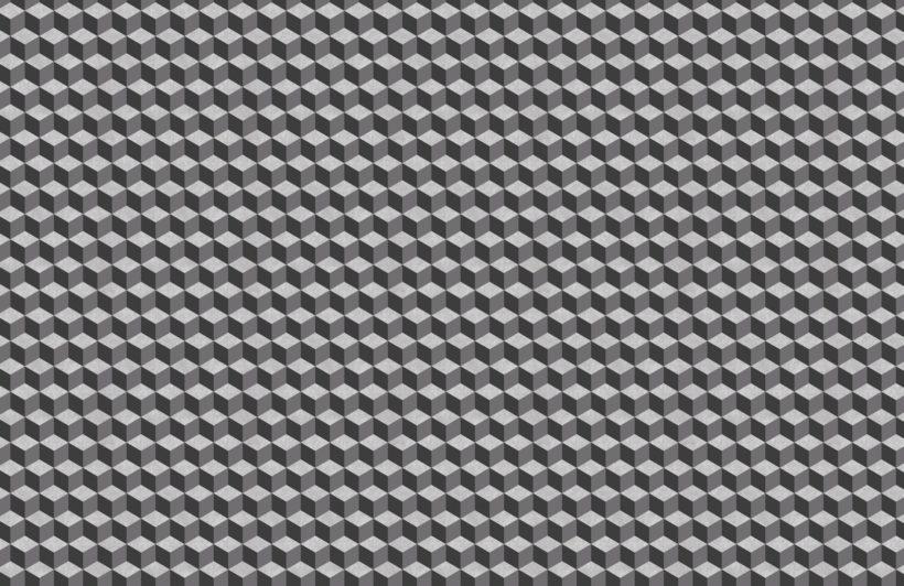 grey concrete texture 3D cube wallpaper mural
