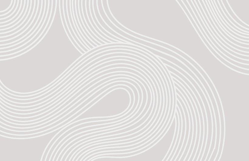 grey curvy lines modern zen garden wallpaper mural